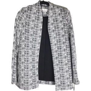 Calvin Klein open blazer black white NEW